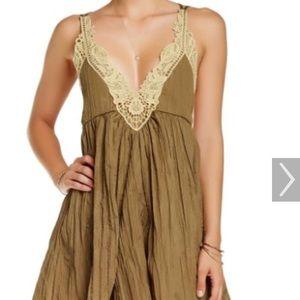 FreePeople Breathless crochet trim babydoll dress